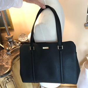 Kate spade black textured leather bag purse
